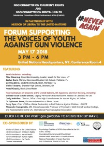 THE VOICES OF YOUTH AGAINST GUN VIOLENCE - MAy 17